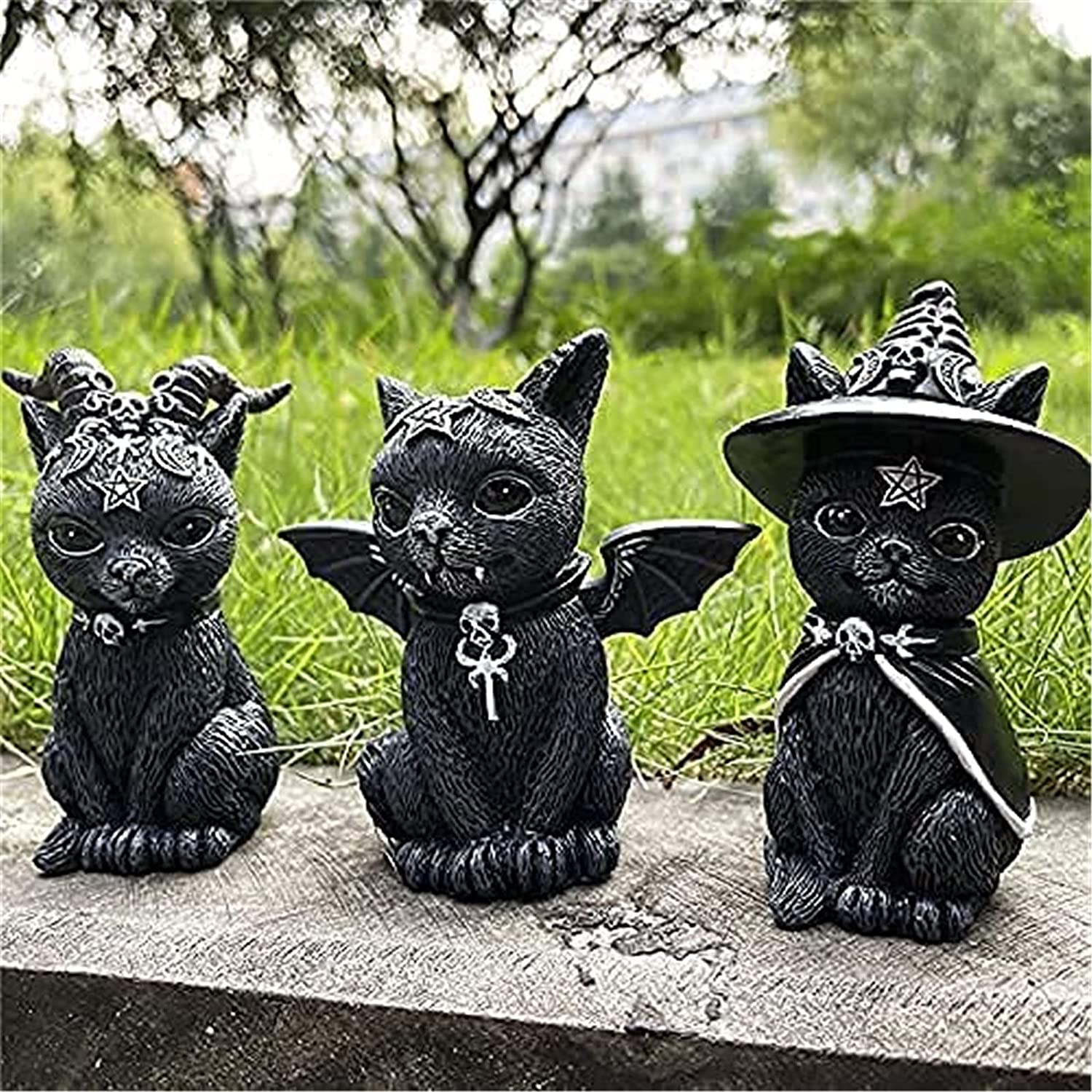 Ranking TOP18 Witch's shopping Cat Sculpture Cute Black Gnome Halloween