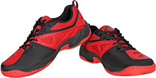 NIVIA - - Step Out & Play 210RB Mesh Energy Tennis Shoes, (Red/Black)