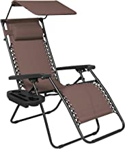 Best Choice Products Folding Steel Mesh Zero Gravity Recliner Lounge Chair w/Adjustable Canopy Shade and Cup Holder Access...