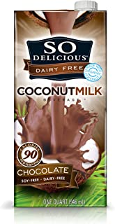 So Delicious Dairy-Free Organic Coconutmilk Beverage, Chocolate, 32 Ounce (Pack of 6) Plant-Based & Vegan, Great in Smoothies Protein Shakes or Cereal