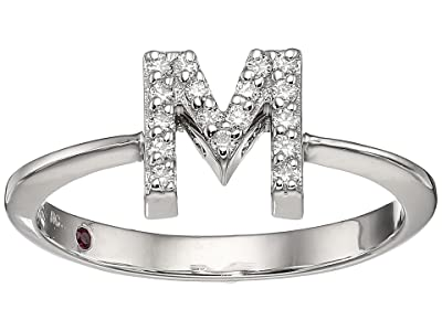 Roberto Coin Tiny Treasure Initial M Love Letter Ring (White Gold) Ring