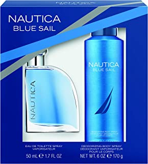 Nautica Blue Sail 2pc Set -1.7oz Eau De Toillette + 6.0 oz Body Spray