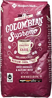 Member's Mark Colombian Supremo Whole Bean, 40 Ounces