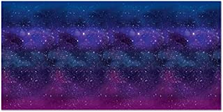 Beistle Printed Plastic Cosmic Galaxy Backdrop Wall Décor Space Theme Photo Background Birthday Party Supplies, 4' x 30', ...
