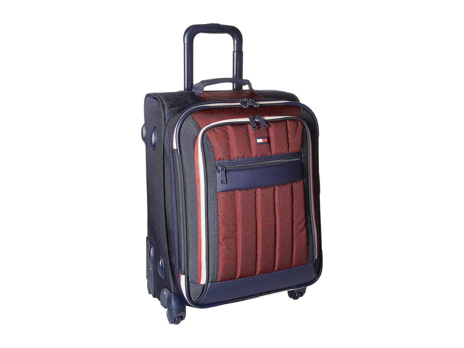 "Classic Sport 21"" Upright Suitcase, NAVY/BURGUNDY"