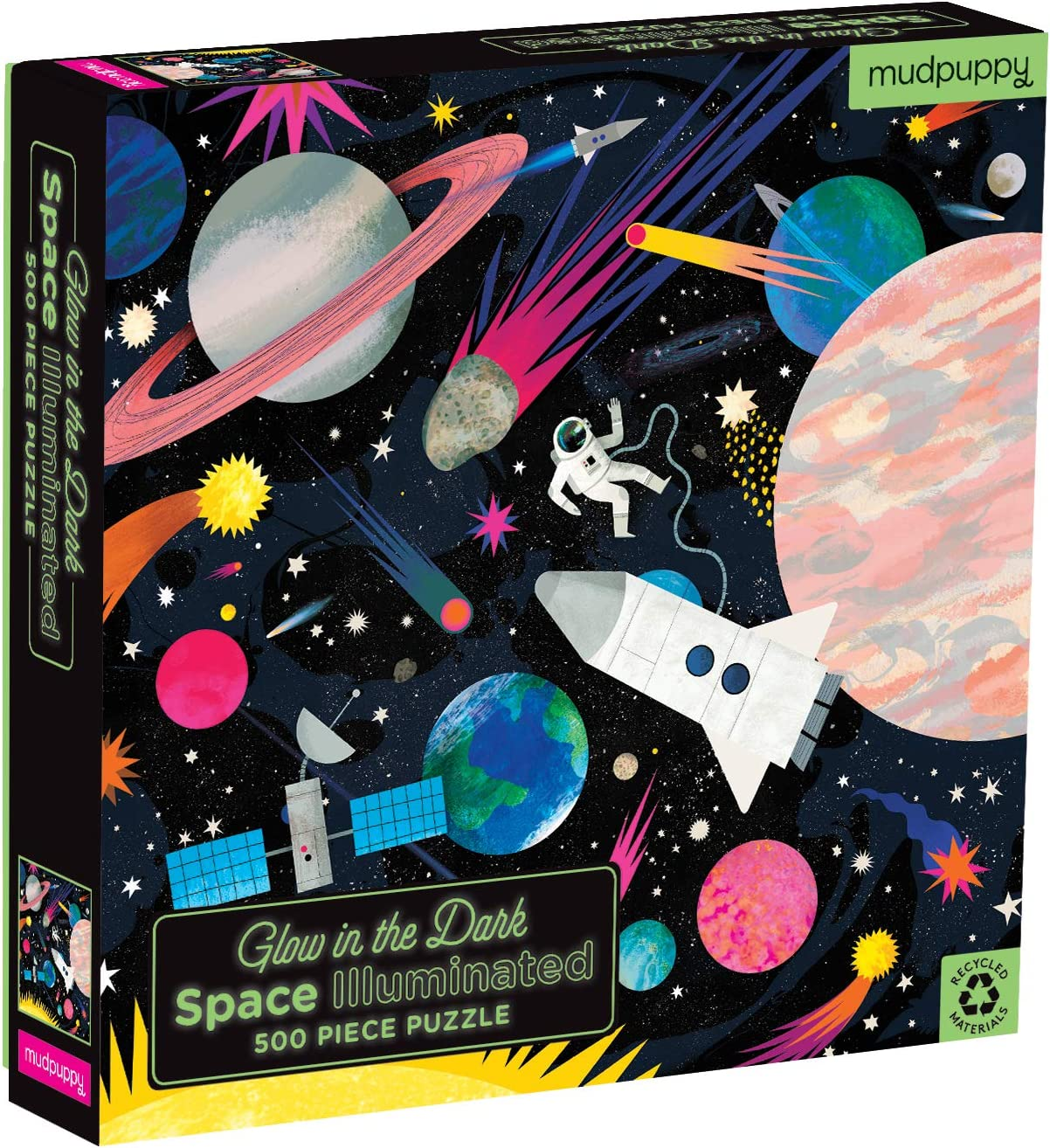 Brand New Toys /& Games Space Explorers 100 Piece Glowing Jigsaw Puzzle