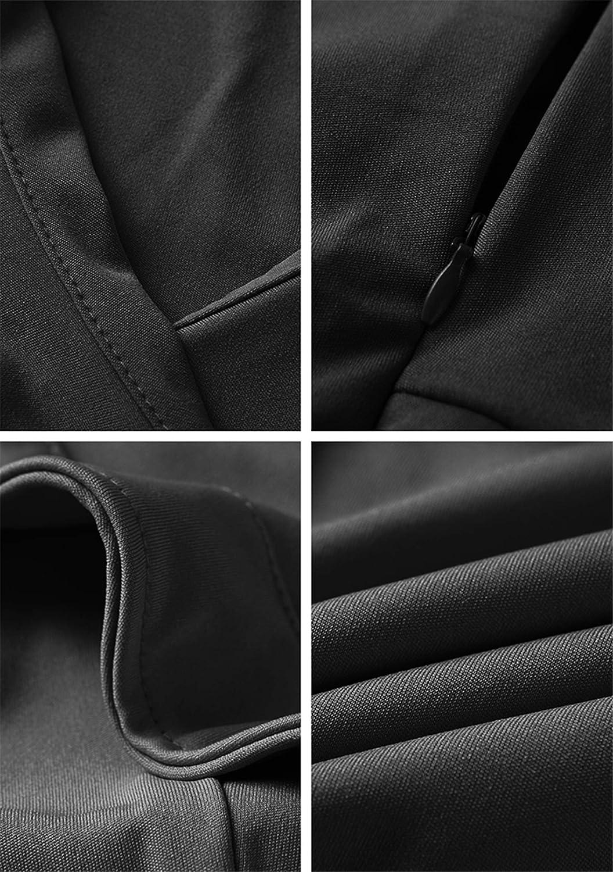 WIWIQS Women's Sexy V Neck Bodycon Long Sleeve/Sleeveless Ruffle Dress Front Slit Bandage Plus Size Midi Club Dresses