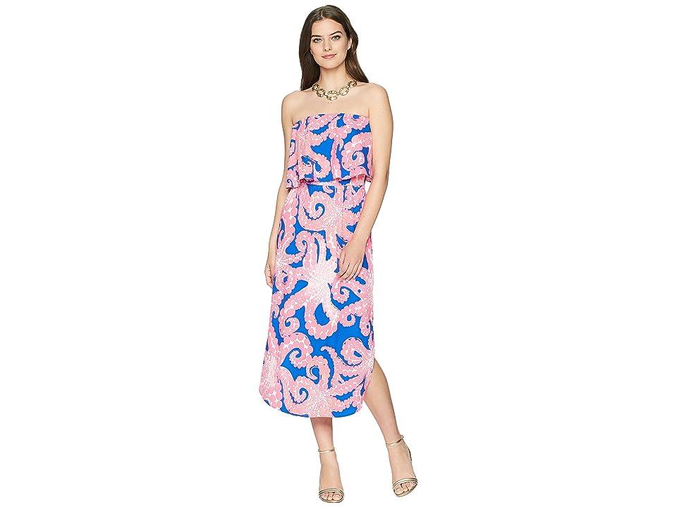 Lilly Pulitzer Meridian Midi Dress (Ikat Blue Mocean) Women
