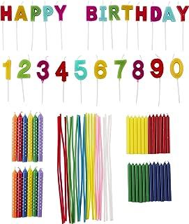 Wilton Rainbow Birthday Party Candles Set, 83-Piece
