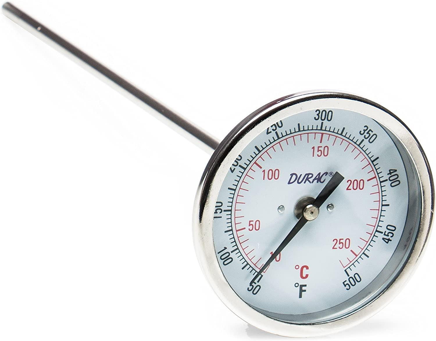 H-B DURAC Bi-Metallic Dial Thermometer; 10 to 260C (50 to 500F), 1 2 in. NPT Threaded Connection, 75mm Dial (B61310-9200)