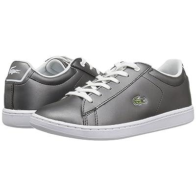 Lacoste Kids Carnaby Evo (Little Kid) (Gunmetal/White) Kids Shoes