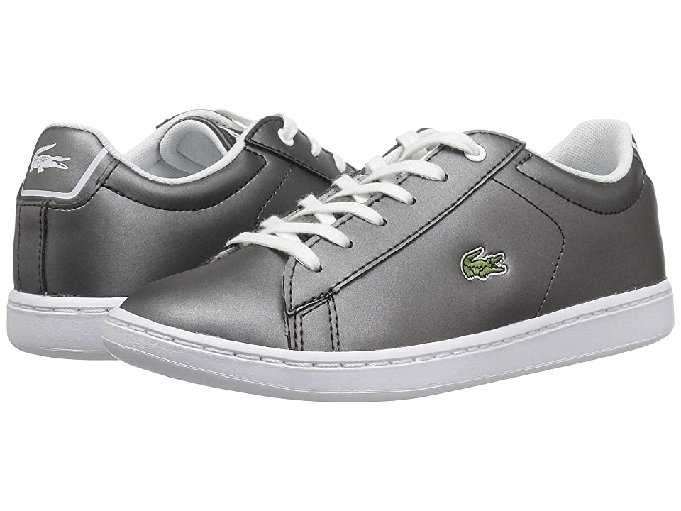Lacoste Kids Carnaby Evo (Little Kid) (Gunmetal/White) Kids Shoes