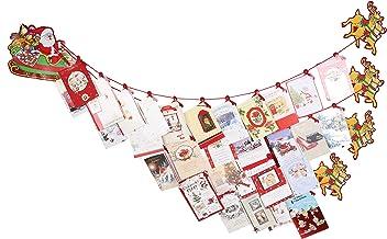Toyland® Santa, Sleigh & Reindeer Christmas Card Holder - Traditional Christmas Decorations