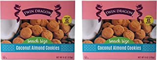 Twin Dragon   Coconut Almond Snack Size Cookies   6 Oz Box   2 Pack