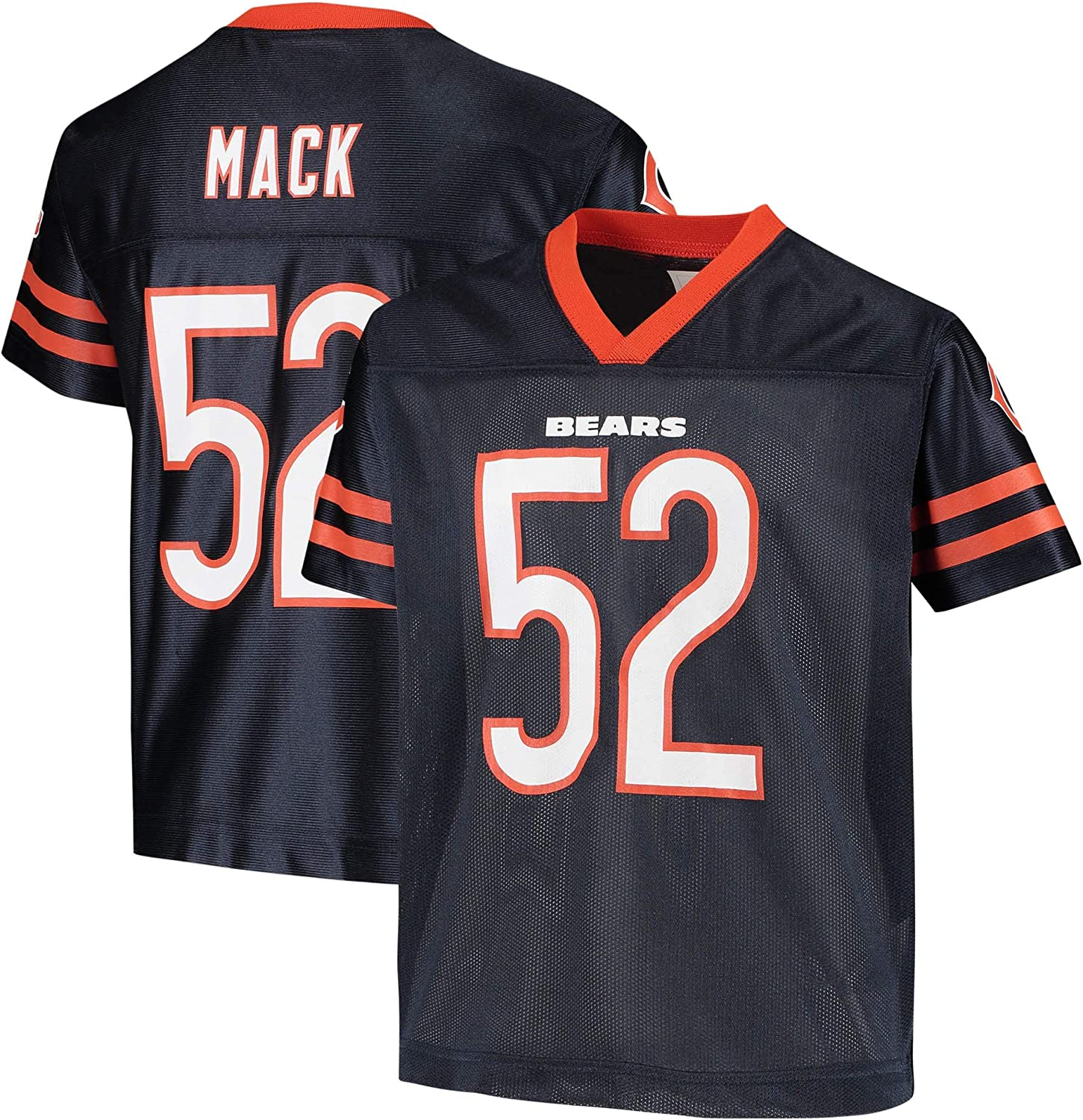Khalil Mack Chicago Bears Navy #52 4-20 2021 new Jersey Player Home favorite Youth