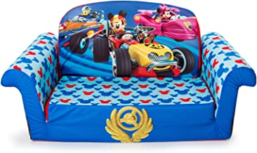 Marshmallow Furniture - Children's 2 in 1 Flip Open Foam Sofa, Disney Mickey Mouse Roadsters Flip Open Sofa (Styles May Vary)