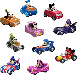 Fisher-Price Disney Mickey & the Roadster Racers, vehículos de caña caliente, 10 unidades, Estándar