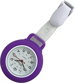 Nurse Watch - Clip-on Silicone (Infection Control) - Violet