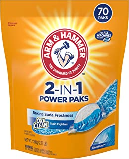 ARM & HAMMER2-IN-1 Laundry Detergent Power Paks, 70 Count