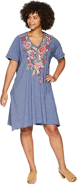 Plus Size Adeline Draped Tunic Dress