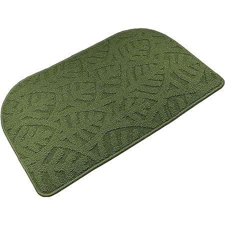 """TOONOW Indoor Doormat Front Door Mat,30""""x18"""", Low-Profile Machine Washable Kitchen Rug, Absorbent Mud Half Round Entrance Mat for Outdoors, Entryway, Patio, Bedroom, Green"""