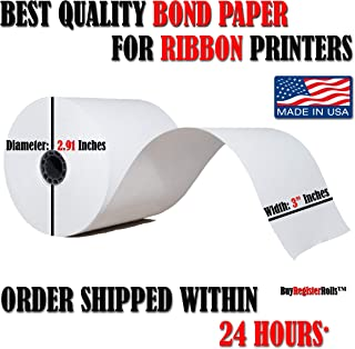 STAR MICRONICS SP700 (All) 1-Ply 3 inch x 165' Paper 50 Rolls Made in USA from BuyRegisterRolls