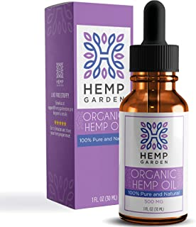 Organic Hemp Oil Drops 500mg - Premium Pain Relief Anti-Inflammatory & Joint Support, Natural Sleep Aid, Perfectly Balanced Essential Fatty Acids Omega 3 & 6, Vegan