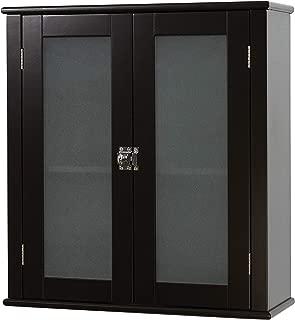 black wall bathroom cabinet