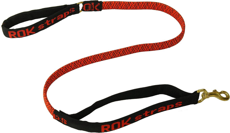 ROK Straps Lead Strap, Red Black, Small