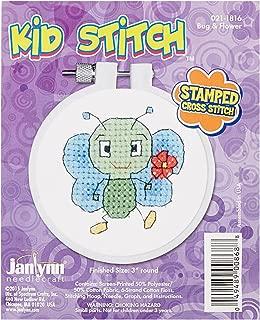 Janlynn 021-1816 Kid Bug & Flower Stamped Cross Stitch Kit, 3