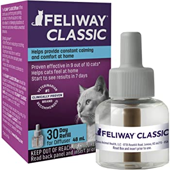 Feliway Classic Calming Diffuser Refill (1 Pack, 48 ml) | Reduce Problem, Scratching, Spraying, and Fighting | Constant Calm & Comfort At Home