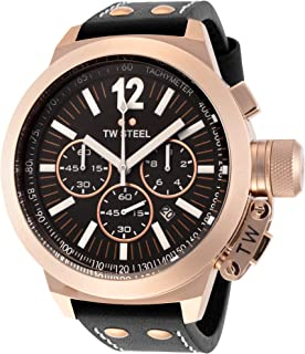 TW Steel Men's Canteen Chronograph Leather Band Watch