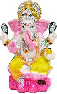 Estatua de Ganesh de pureza Vibrante en Resina – Escultura hindú de Dios Ganesh Idol