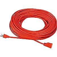 AmazonBasics 16/3 Vinyl Outdoor 100-Foot Extension Cord (Orange)