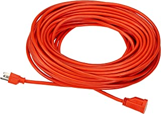 AmazonBasics 16/3 Vinyl Outdoor Extension Cord | Orange, 100-Foot