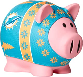NFL Miami Dolphins Sweater Pig Bank, Green