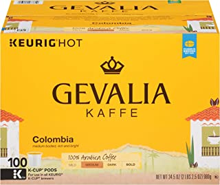 Gevalia Colombia Blend Medium Roast K-Cup Coffee Pods (100 Pods)