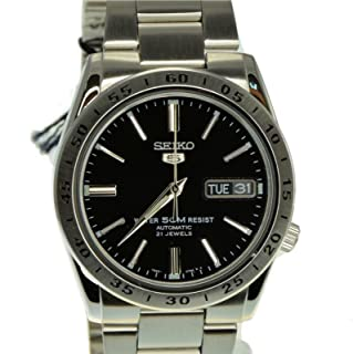 Seiko 5 SNKE01 SNKE01K1 Automatic 21 Jewels Black Dial Stainless Steel Men Watch