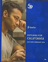 2018-2019 Barbri Bar Exam Outlines for California CA