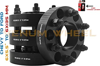 4PC 6 Lug Black Hub Centric Conversion Wheel Spacers Adapters 6x5.5