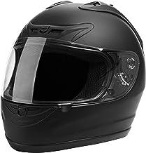 CARTMAN Motorcycle Modular Full Face Helmet DOT Approved, Matte Black, Small
