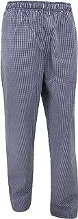 Denny's Unisex Blue/White Check Fully Elasticated Trouser/Chefswear