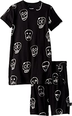 Nununu Skull Mask Short Loungewear (Little Kids/Big Kids)