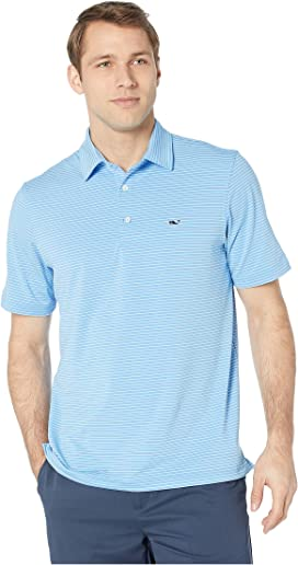 104f96f7f7 Vineyard Vines Caneel Bay Stripe Bowline Polo at Zappos.com