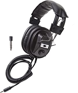 Califone 3068AV Stereo/Mono Headphones, 3.5 mm Stereo Plug, Black