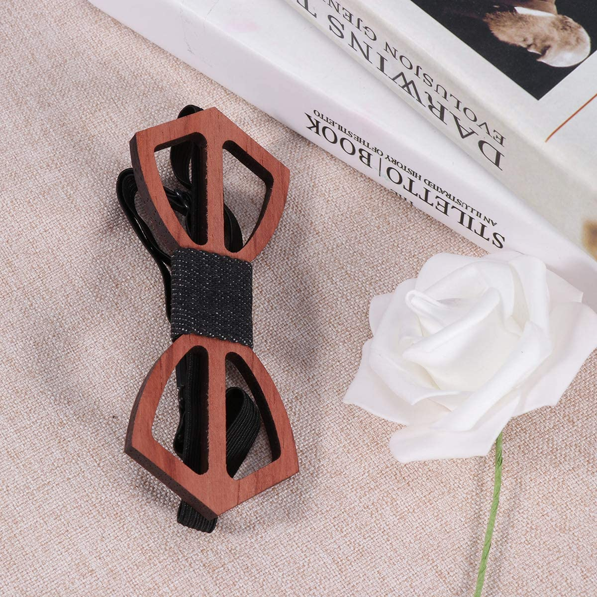 1pc Hollow out Bowtie Vintage Style for Anniversary Birthday Wedding Decor for Party Supplies