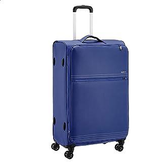 AmazonBasics Lightweight Luggage, Softside Spinner Travel Suitcase with Wheels