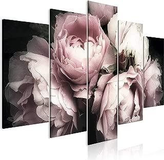3 Stück Rose Wandbilder Wandbild Kunstdruck Leinwand Bilder Set