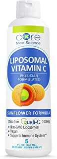 Liposomal Vitamin C 1000 mg Liquid - Sunflower Formula - Quali®-C Vitamin C from Scotland - Made in The USA - Formed LIPOS...