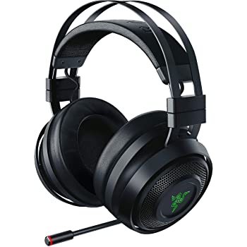 Razer Nari Wireless 7.1 Surround Sound Gaming Headset: THX Audio - Auto-Adjust Headband & Swivel Cups - Chroma RGB - Retractable Mic - For PC, PS4 - Classic Black